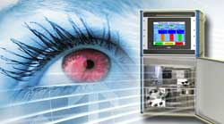 Vapour testing for contact lenses and materials
