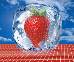 Freezing strawberries and freezer burning meat - the vapour permeability solution